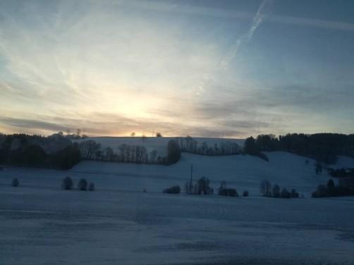 Al menos el amanecer desde el tren fue bonito.