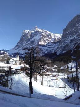 El paisaje en Grindenwald impresiona.