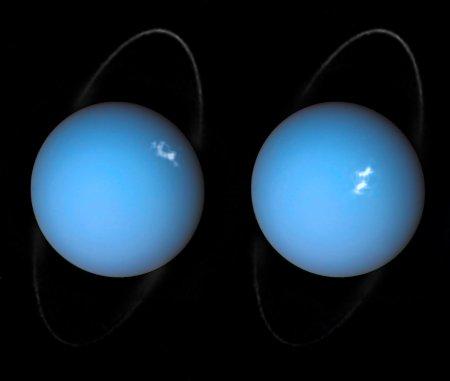Alien aurorae on Uranus