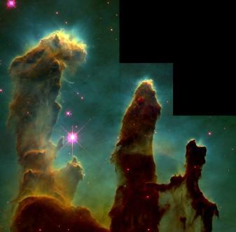 Los pilares de la creación (Fuente: NASA)