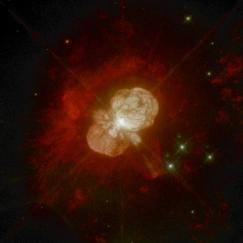 Explosión en la estrella Eta Carinae (Fuente: NASA)