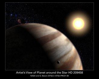 Representación artística del planeta HD 20954 b (Fuente: NASA)