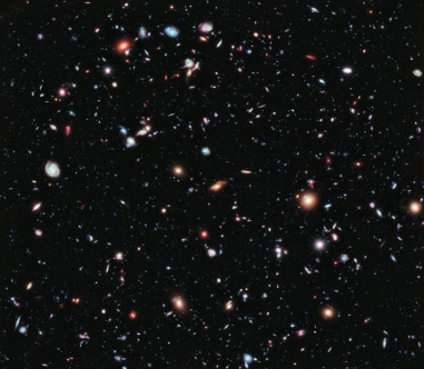 Imagen de espacio extremadamente profundo de Hubble (Fuente: NASA)